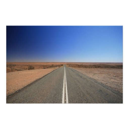 Outback Road, Australia - Poster, Landscape