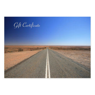 Outback Road Travel Agent - Gift Certificate Large Business Cards (Pack Of 100)