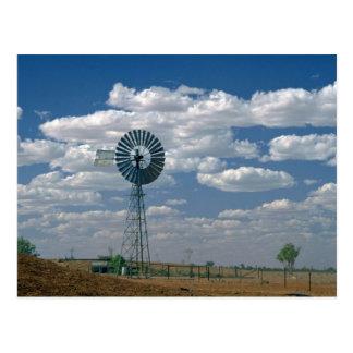 Outback windmill, South Australia Postcard