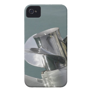 Outboard boat motor tuned up on sea background iPhone 4 cover