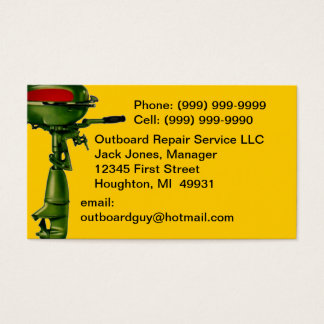 Outboard Motor Repair Service Engine Business Card
