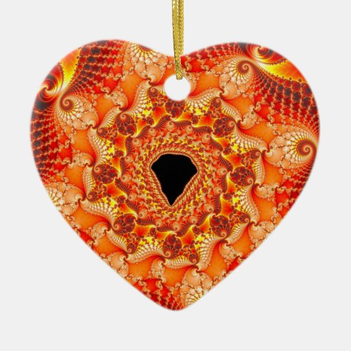 Outburst Double-Sided Heart Ceramic Christmas Ornament