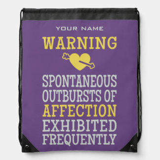 Outbursts of Affection custom bag