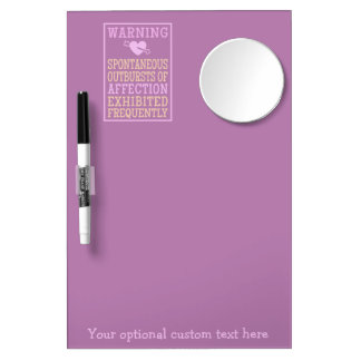 Outbursts of Affection custom message board Dry Erase White Board