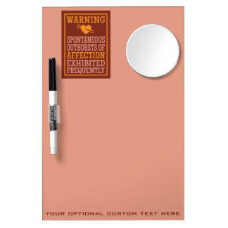 Outbursts of Affection custom message board Dry-Erase Board