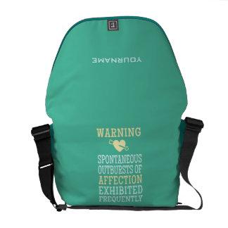 Outbursts of Affection custom messenger bag