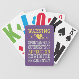 Outbursts of Affection custom playing cards