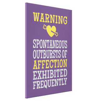 Outbursts of Affection wrapped canvas