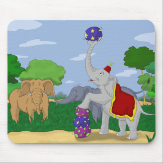 Outcast Circus Elephant Mousepad
