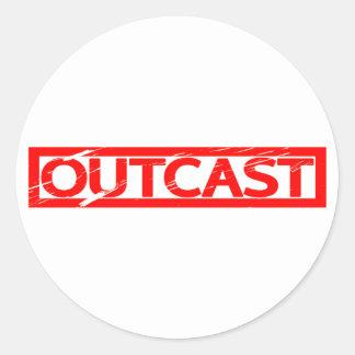 Outcast Stamp Classic Round Sticker