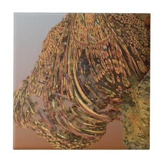 """""""Outcrop"""" futuristic abstract art Tiles"""