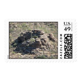 Outcropping rocoso en el franqueo de Tucson
