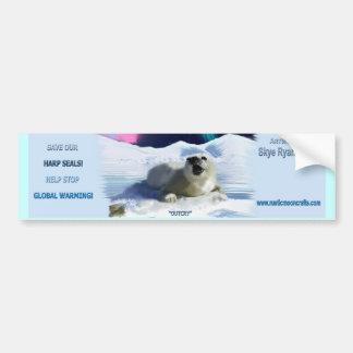"""""""OUTCRY"""" Harp Seal Bumper Sticker"""