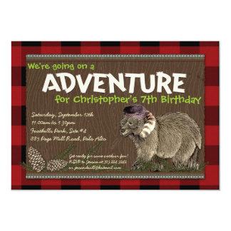 "Outdoor Adventure Party Invitation 5"" X 7"" Invitation Card"