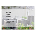 outdoor air conditioner units business card template