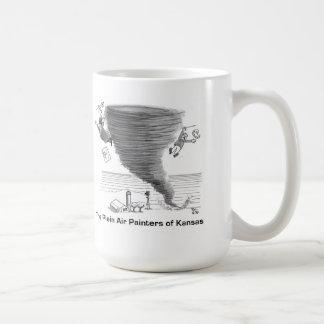 Outdoor artists vs tornado coffee mugs