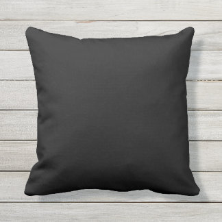 Outdoor black solid color pillow