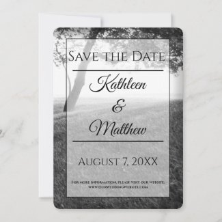 Outdoor Black & White Save the Date