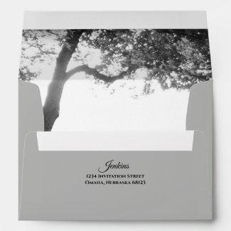 Outdoor Black & White Wedding Envelopes