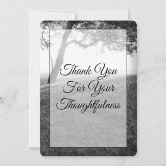 Outdoor Black & White Wedding Thank You Cards