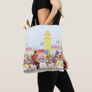 Outdoor Cafe All-Over-Print Tote Bag