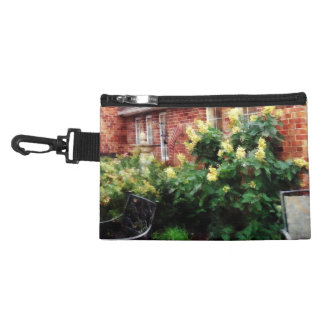 Outdoor Cafe With Hydrangea Accessory Bags