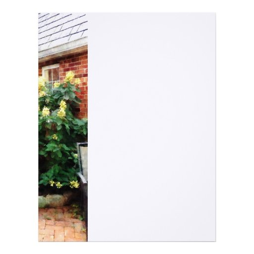 Outdoor Cafe With Hydrangea Letterhead