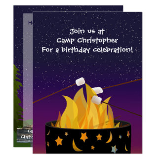 Outdoor Camping Party Invitation
