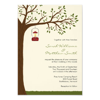 Outdoor Camping Wedding Invitations