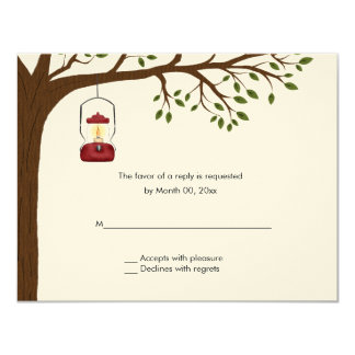 Outdoor Camping Wedding RSVP Response Cards Invitations