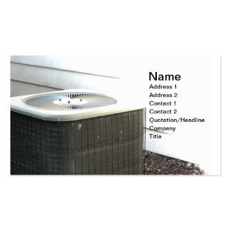 outdoor central air conditioner unit business card templates
