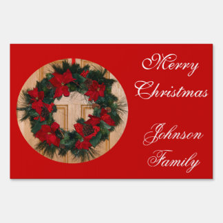 Merry christmas outdoor signs gifts t shirts art for Outdoor christmas signs