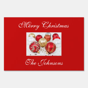 Merry Christmas Yard Lawn Signs Zazzle