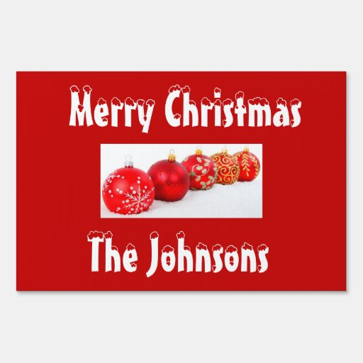 Outdoor christmas signs with decorations zazzle for Outdoor christmas signs