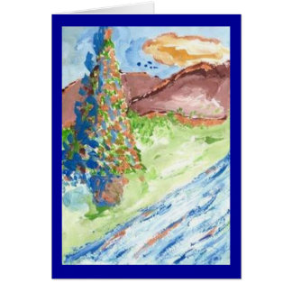 OUTDOOR CHRISTMAS TREE Anytime Greeting Card