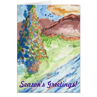 OUTDOOR CHRISTMAS TREE CHRISTMAS GREETING CARD RC
