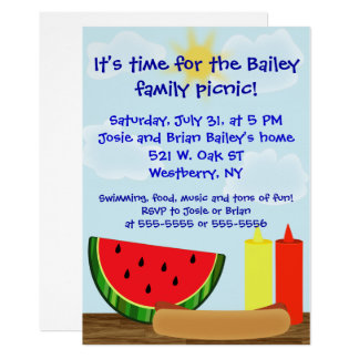 Outdoor Cookout Invitation