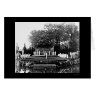 Outdoor Dance Long Island 1905 Card