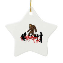 Outdoor Dining Ceramic Ornament