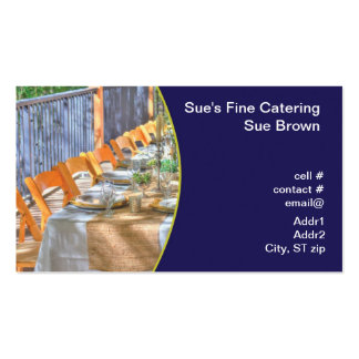outdoor dinner party Double-Sided standard business cards (Pack of 100)