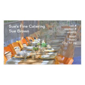 outdoor dinner party business card