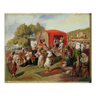 Outdoor Fete in Turkey, c.1830-60 Poster