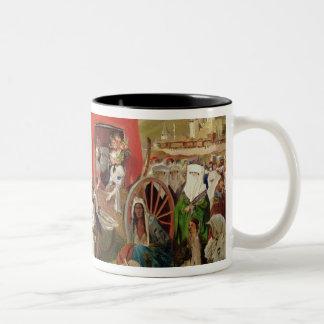 Outdoor Fete in Turkey, c.1830-60 Two-Tone Coffee Mug