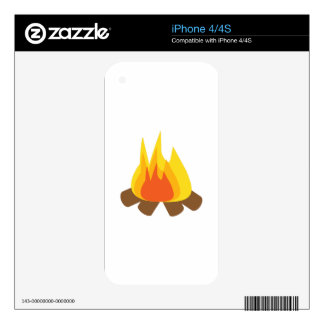 Outdoor Fire Decal For The iPhone 4