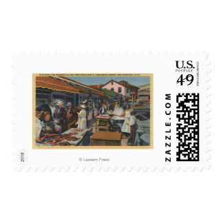 Outdoor Fish Markets on Fisherman's Wharf Postage Stamp