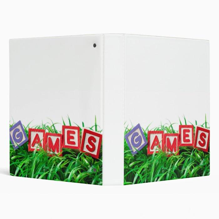 Outdoor games 3 ring binder