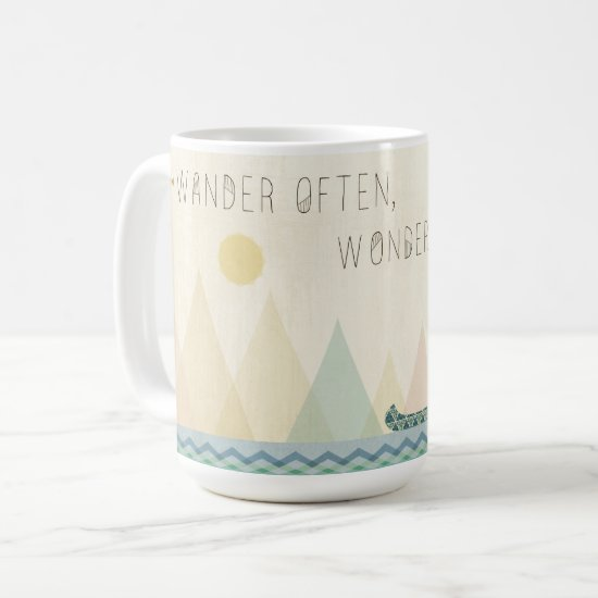 Outdoor Geo I | Wander Often, Wonder Often Coffee Mug