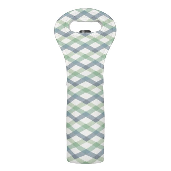 Outdoor Geo Step | Pastel Geometric Pattern Wine Bag