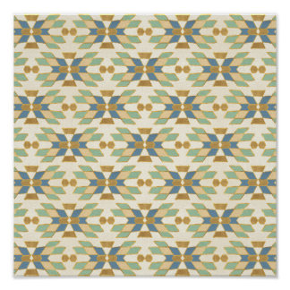 Outdoor Geo Step | Tribal Pattern Poster