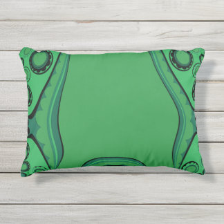 OUTDOOR-INDOOR_CUDDLE-FISH_Green Fish Abstract_ Outdoor Pillow